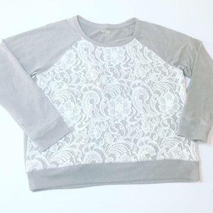 Apt 9 lace sweater Lg